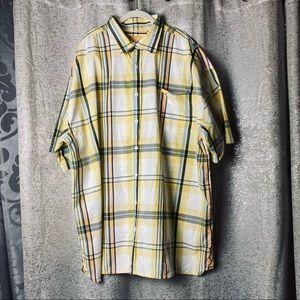 3/$25 ENYCE Plaid button up down casual shirt 4X